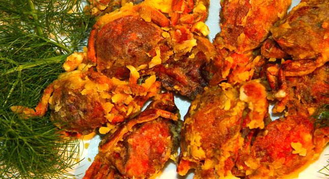 Moeche, un crabe en friture