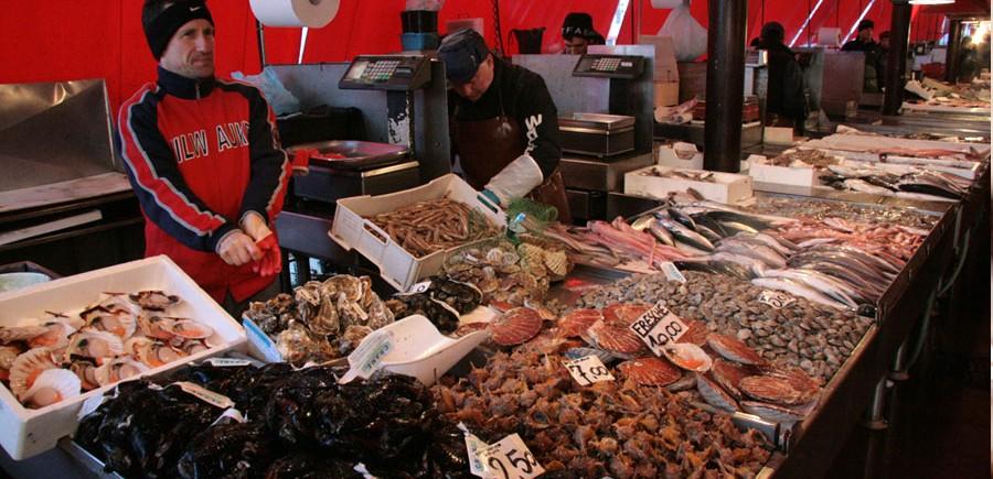 Le crabe moéche sur le marché de Chioggia