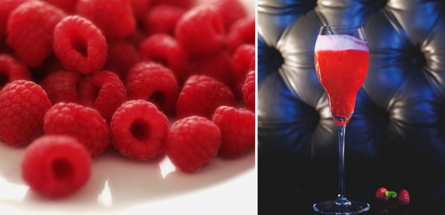 Un cocktail prosecco et framboise : Le Canaletto