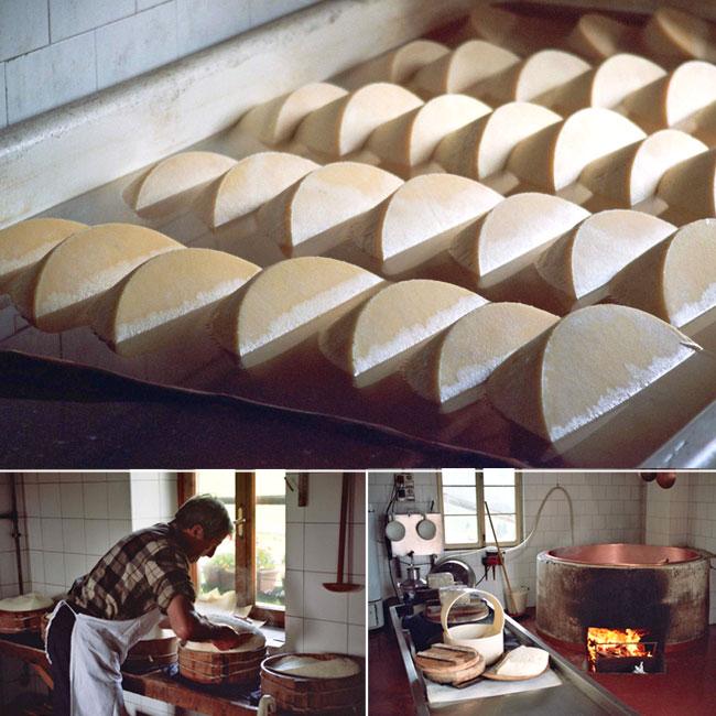 La fabrication du fromage asiago