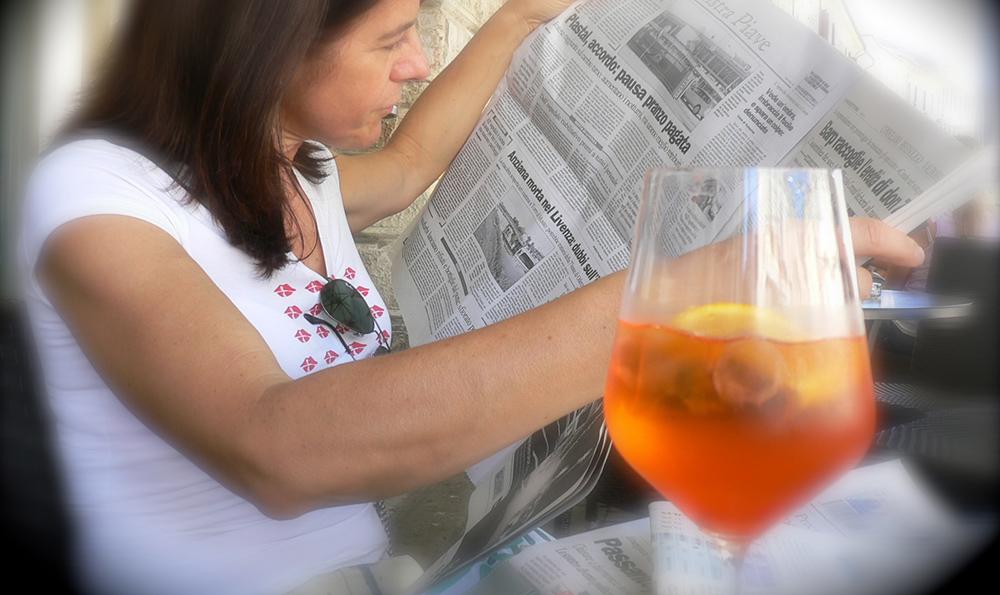 Cocktail spritz- prosecco et apérol ou campari
